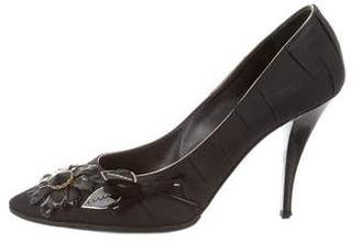 Louis Vuitton Embellished Pleated Pumps