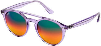 Ray-Ban RB 4279-F Purple Round Sunglasses