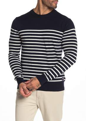 Scotch & Soda Striped Crew Neck Pullover