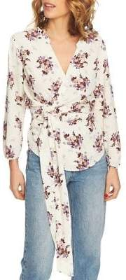 1 STATE 1.STATE Wrap Front Delicate Spring Blouse