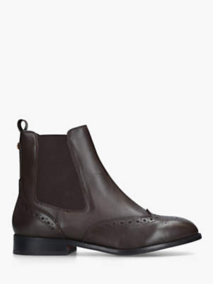 Carvela Comfort Rhea Block Heel Ankle Boots, Brown Leather