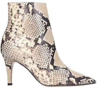 Fabio Rusconi High Heels Ankle Boots In Animalier Leather