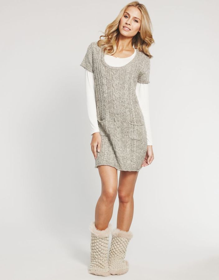 Figleaves loungewear Retreat Cable Tunic