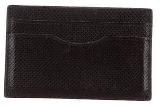 Bottega Veneta Embossed Leather Travel Cardholder