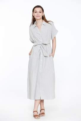 Bio Stripe Linen Shirtdress