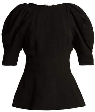 Khaite - Darlene Peplum Hem Top - Womens - Black