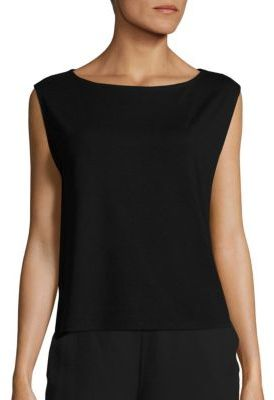 Eileen Fisher Boatneck Shell $98 thestylecure.com