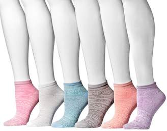 Muk Luks Women's Microfiber No Shows 6-Pair Sock Pack