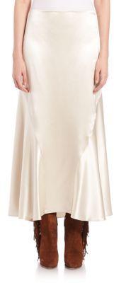 Polo Ralph Lauren Luxe Silk Satin Skirt $698 thestylecure.com