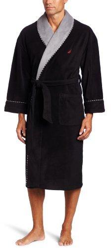 Nautica Men's Fleece Plush Solid Robe