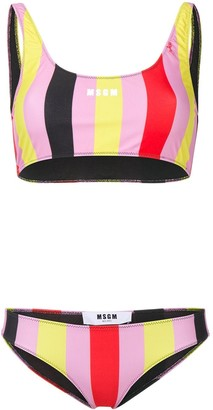 MSGM striped print bikini