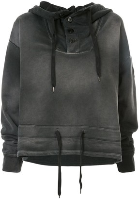 No.21 faded drawstring hoodie