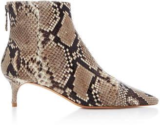Alexandre Birman Kittie Python Ankle Boots