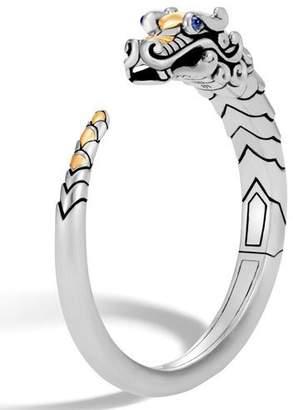John Hardy Legends Naga 18K Gold & Silver Small Kick Cuff Bracelet