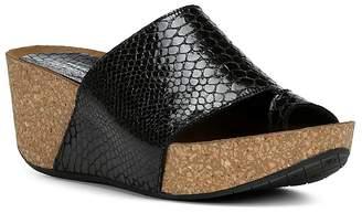 Donald J Pliner Women's Ginie Embossed Leather Platform Wedge Sandals