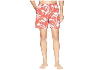 Quiksilver Waterman Palm Tree Volley Swim Shorts Men's Swimwear