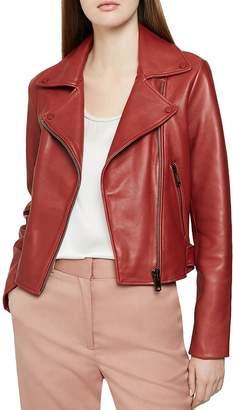 Reiss Sadie Leather Biker Jacket