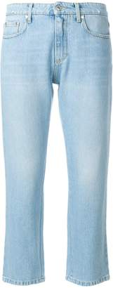 MSGM cropped logo jeans