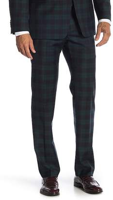 "Tommy Hilfiger Green Navy Tartan Stretch Suit Separates Pants - 30-34"" Inseam"