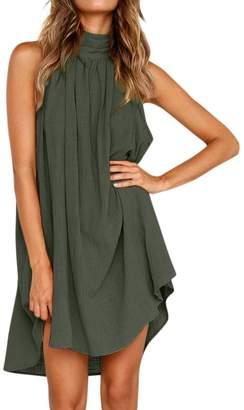 Promotions Tootu 2019 New Dress Toou Womens Holiday Irregular Dress Summer Beach Sleeveless Party Dress