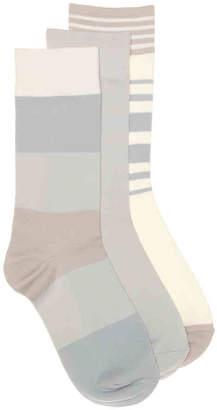 Nine West Colorblock Crew Socks - 3 Pack - Women's
