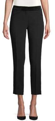 Karl Lagerfeld Paris Velvet Waistband Cropped Pants