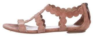 Alaia Suede Ankle Strap Sandals