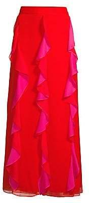 Diane von Furstenberg Women's Salona Ruffle Maxi Skirt