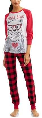Holiday Mama bear family sleep pajamas, 2-piece set (women's)