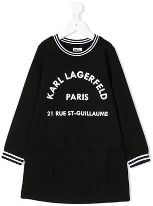 Karl Lagerfeld logo print sweatshirt dress