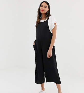 cc87e4b3dc9 New Look Maternity overall jumpsuit in black