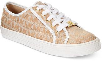 Michael Kors Girls' Logo Sneakers $48 thestylecure.com