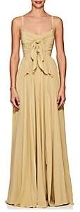 Derek Lam Women's Self-Knotted Silk Georgette Gown - Neutral