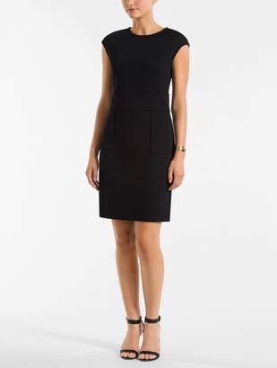 St. John Milano Knit Cap Sleeve Dress
