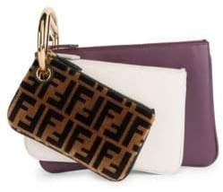Fendi Zucca Three-Piece Zip Pouch Set