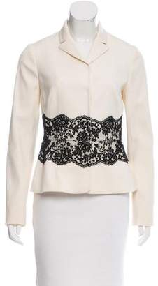 Valentino Wool Lace-Trimmed Jacket w/ Tags