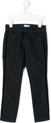Lanvin Enfant jeans with side stripe