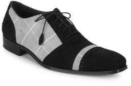 Mezlan Plaid Leather Oxfords