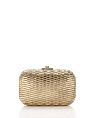 Judith Leiber Couture Crystal Slide-Lock Clutch Bag, Champagne