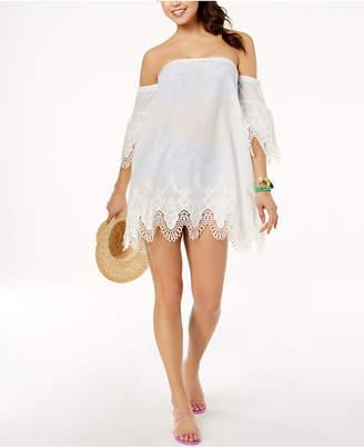 MinkPink Cotton Off-The-Shoulder Cover-Up Dress