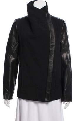 Helmut Lang Leather Combo Jacket