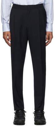 Ermenegildo Zegna Navy Formal Banded Drawstring Trousers
