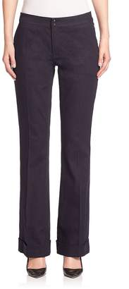 Elie Tahari Women's Bailee Wide-Leg Denim Pants
