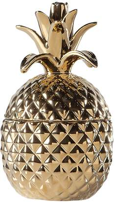Torre & Tagus Pineapple Short Ceramic Canister