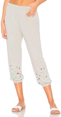 Michael Lauren Nate Crop Jeweled Sweatpant
