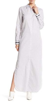 Equipment Brett Striped Button Down Maxi Dress