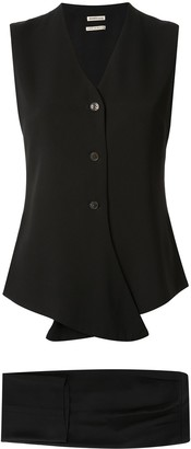 Hermes Pre-Owned 1997-2003 setup sleeveless jacket pants