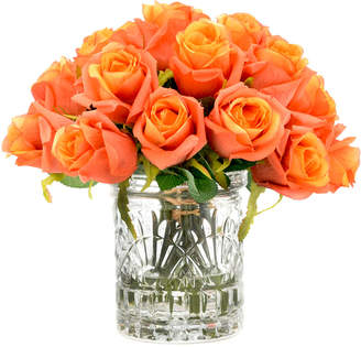 Creative Displays Roses In Etched Glass Vase