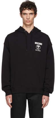Moschino Black Subtle Logo Hoodie