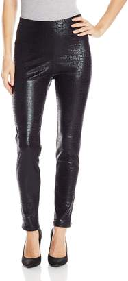 Karen Kane Women's Croco Faux Leather Pant
